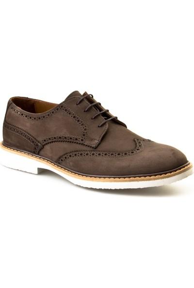 Cabani Oxford Günlük Erkek Ayakkabı Yeşil Nubuk