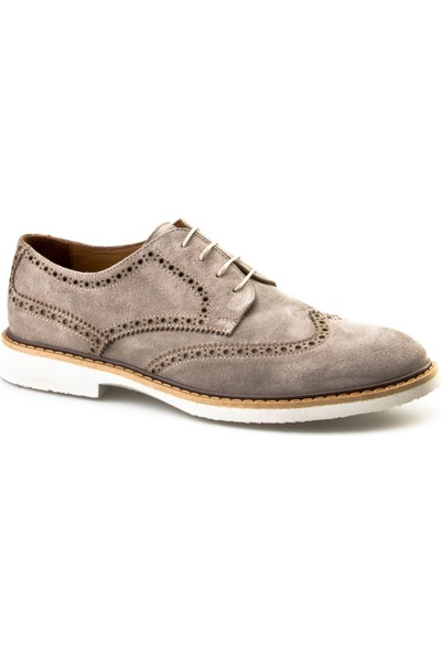 Cabani Oxford Günlük Erkek Ayakkabı Bej Süet