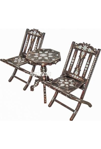 Gümüştekin Sandalye ve Fiskos Sehpa Takımı