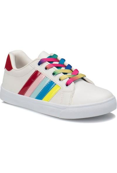 I Cool Funny Beyaz Kız Çocuk Sneaker Ayakkabı