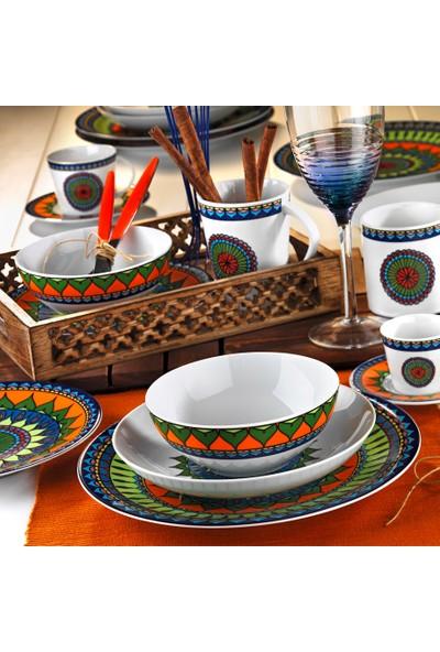 Kütahya Porselen 24 Parça 6 Kişilik Yemek Takımı 8982 Desen