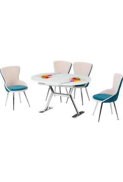 Azzore Mutfak Masa Takımı - En 939 Ornament Mutfak Masası Takımı