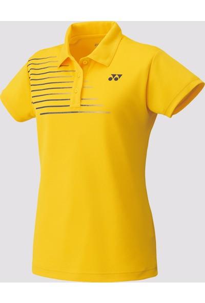 Yonex Badminton Tenis L20302 Polo Kadın Tişört - Sarı