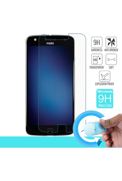 Microsonic Motorola Moto Z Play Nano Cam Ekran koruyucu film