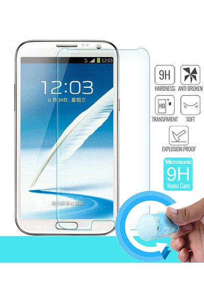 Microsonic Samsung Galaxy Note 2 Nano Cam Ekran koruyucu film