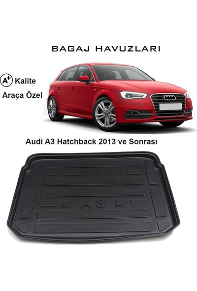 Gün-San Audi A3 Hatchback 2013 Ve Sonrası 3D Bagaj Havuzu