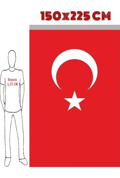 Ulu Ulu Türk Bayrağı 150X225 Cm