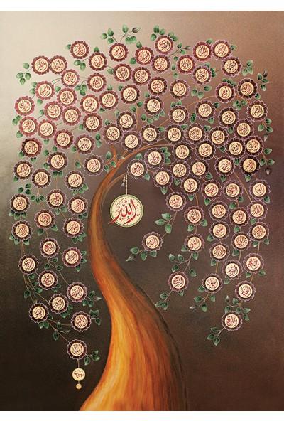 Art Puzzle Allah'ın 99 İsmi(Esma-Ül Hüsna)
