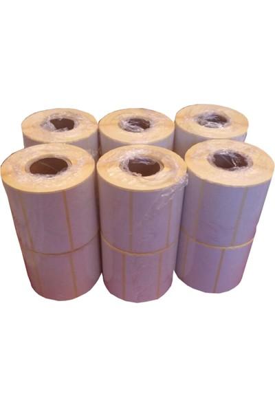 Kalite Barkod - 40x80 Termal Barkod Etiketi 15 Rulo 15.000 Adet