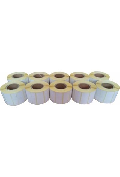 Kalite Barkod - 30x50 Termal Barkod Etiketi 10 Rulo 10.000 Adet
