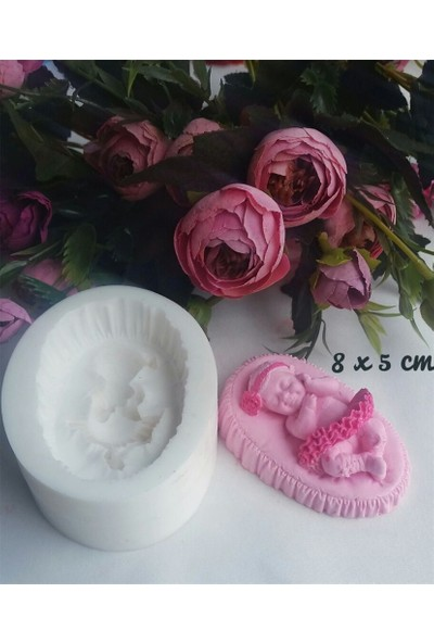 Pasta Mağaza Etekli Kız Bebek Silikon,Mum, Kokulu Taş Kalıbı