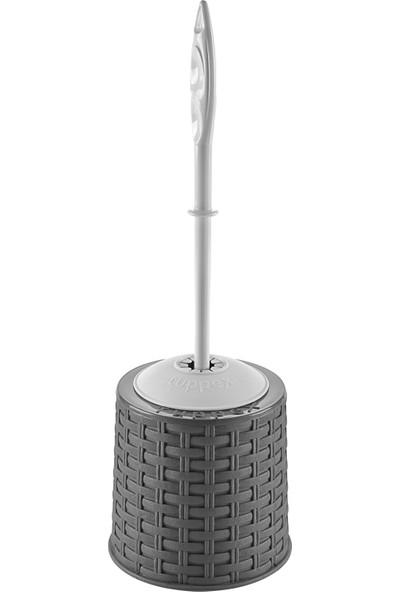 Tuffex Rattan Klozet Fırça Takımı - Gri