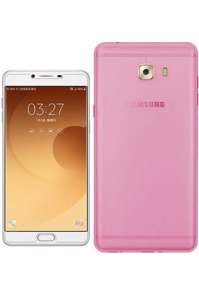 Tg Samsung Galaxy C9 Pro Silikon Kılıf + Ekran Koruyucu