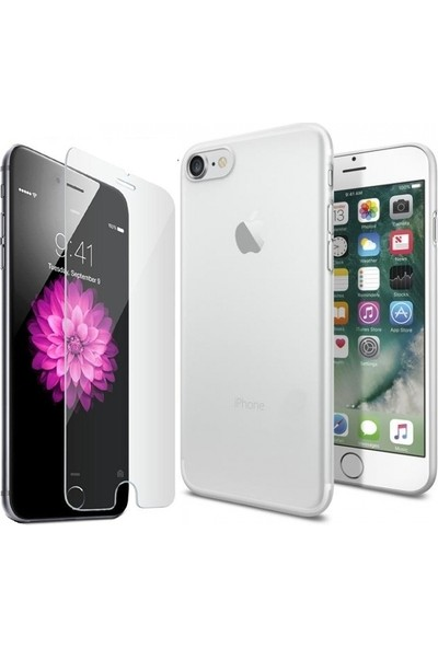 Tg Apple iPhone 7 Silikon Kılıf + Ekran Koruyucu