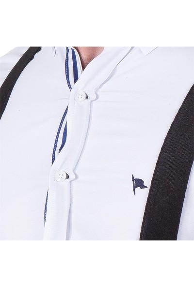 Tudors Siyah Düz Erkek Pantolon Askısı