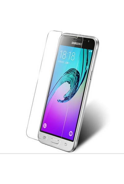 Microcase Samsung Galaxy J3 2016 Tempered Glass Cam Ekran Koruma