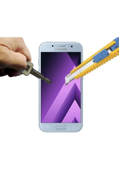 Microcase Samsung Galaxy A3 2017 Tempered Glass Cam Ekran Koruma