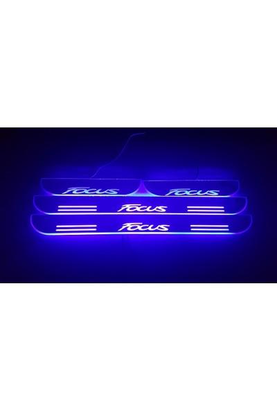 Boostzone Ford Focus Plastik Işıklı Kapı Eşiği 4Lü