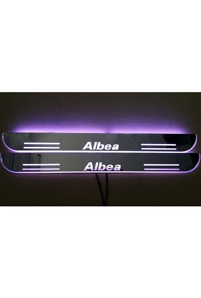 Boostzone Fiat Albea Plastik Işıklı Kapı Eşiği 2Li