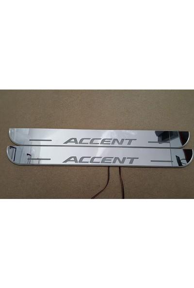 Boostzone Hyundai Accent Plastik Işıklı Kapı Eşiği 2Li