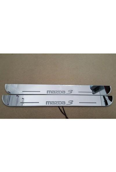 Boostzone Mazda 3 Plastik Işıklı Kapı Eşiği 2Li