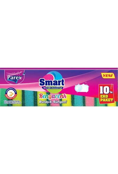 Parex Rengarenk Bulaşık Süngeri 10 Lu Eko Paket