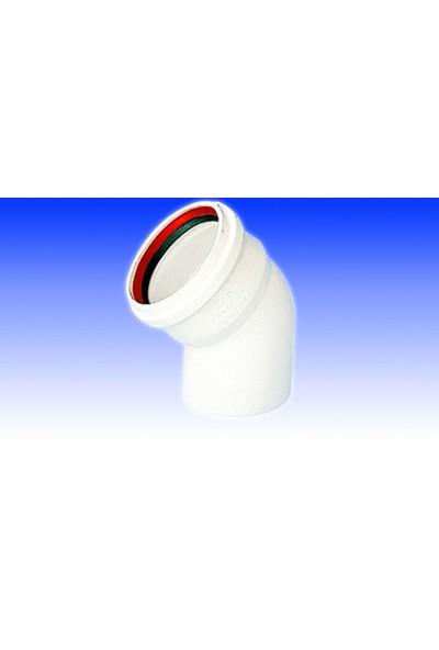 Hakan Plastik 70 Mmx45° Pvc Açık Dirsek