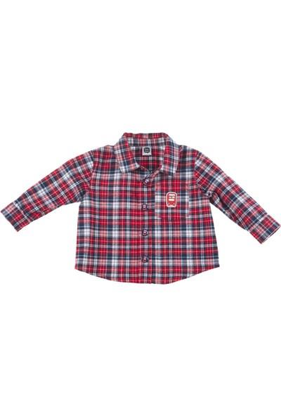 Tuc Tuc Erkek Çocuk Ekose Gömlek, British Kırmızı - Lacivert Ekose