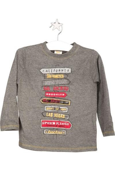 Tuc Tuc Erkek Çocuk Uzun Kol T-Shirt Gri, Going Wild Gri