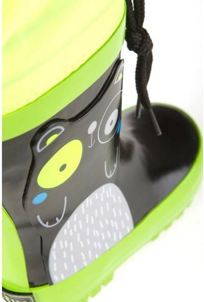 Tuc Tuc Erkek Çocuk Yağmur Botu, Black & White Siyah