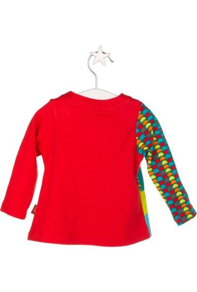 Tuc Tuc Kız Çocuk Uzun Kollu T-Shirt, Secret Forest Kırmızı