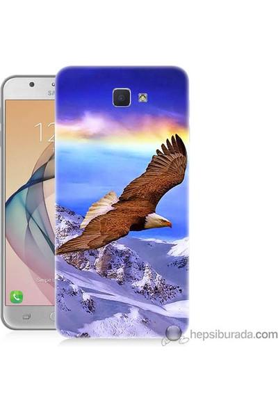 Teknomeg Samsung Galaxy J7 Prime Kapak Kılıf Manzaralı Kartal Baskılı Silikon