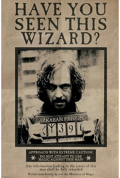 Pyramid International Maxi Poster Harry Potter Wanted Sirius Black Pp33681
