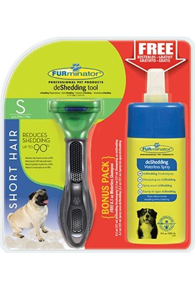 Furminator Kisa Tüylü Köpekler Için Temizlenebilir Tarak Küçük (Şampuan Hediyeli)