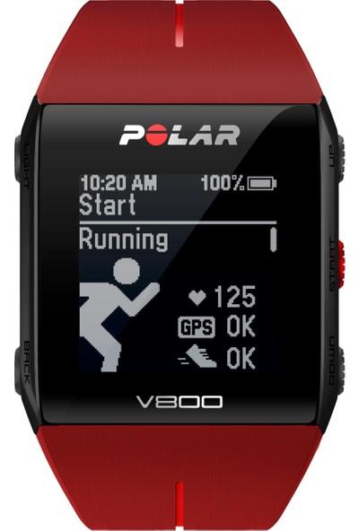 Polar V800 GPS'li Nabız Kontrol Saati Red/HR + Göğüs Bandı