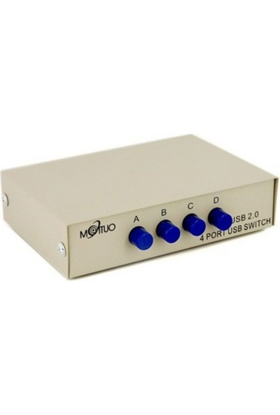 Maıtuo Mt-1A4B-C 4 Pc 4 Port Manuel Usb2.0 Switch Box