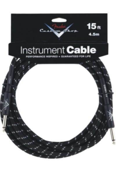 Fender 15 İnç 4,5 Metre Enstrüman Kablosu Cs Performance Cable Blk Twd