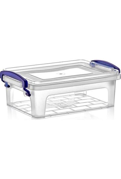Dünya Plastik 1,25 lt Clear Box Saklama Kutusu