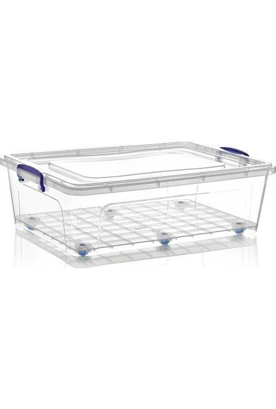 Dünya Plastik 40 lt Clear Box Saklama Kutusu