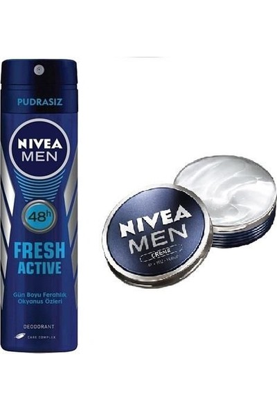 Nivea Deodorant Fresh Active 150 Ml + Nivea Men Creme 30 Ml