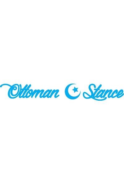 Smoke Ottoman Stance Sticker Mavi