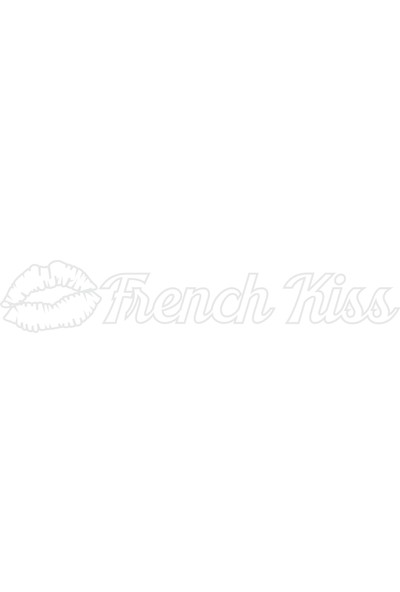 Smoke French Kıss Sticker Beyaz