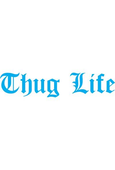 Smoke Thug Lıfe Sticker Mavi