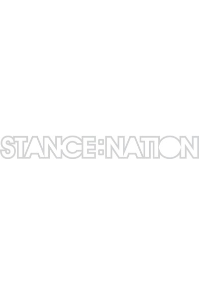 Smoke Stance Natıon Sticker Beyaz