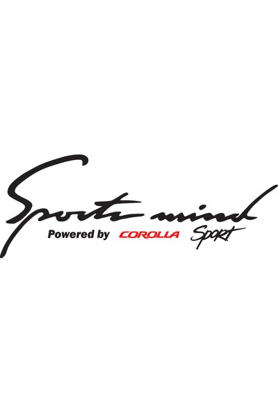 Smoke Sport Mind Corolla Sticker Siyah