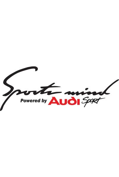 Smoke Sport Mind Audi Sticker Siyah