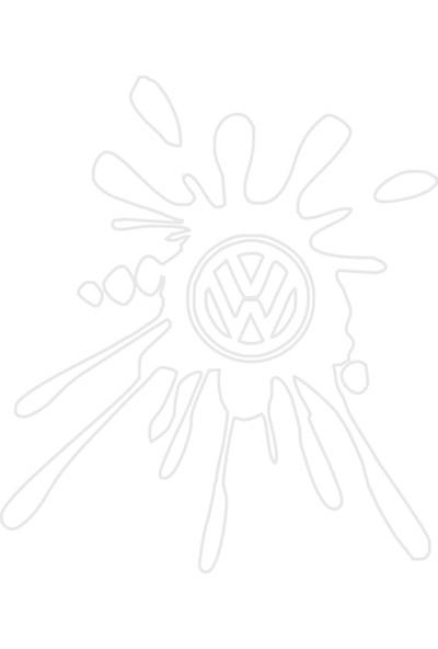 Smoke Wolkswagen Leke Sticker Beyaz