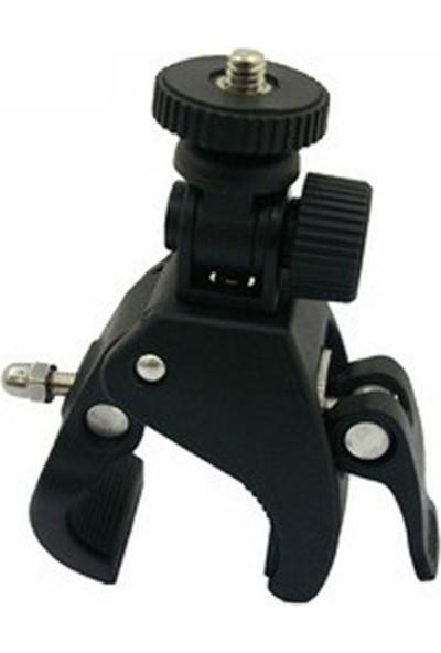Knmaster Sony Aksiyon Kamera Uyumlu Metal Gidon Aparatı + Adaptör