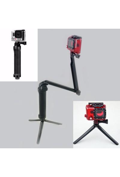 Knmaster Gopro Uyumlu Çok Fonksiyonlu Monopod / Stand / Mini Tripod