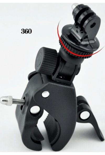 Knmaster Gopro Uyumlu Metal Gidon Aparatı + Adaptör